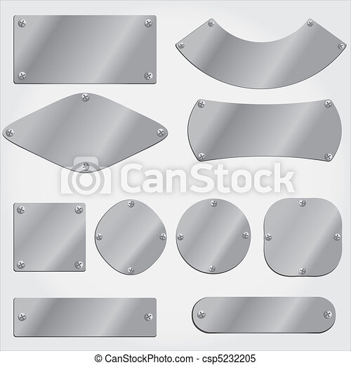 metal plates set, grouped objects - csp5232205