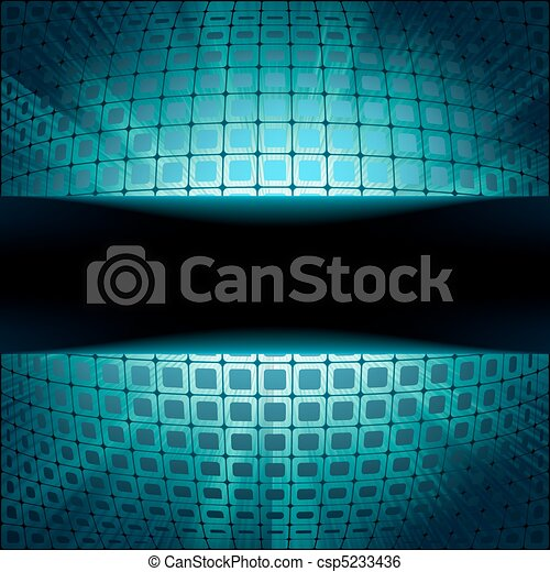 Technology squares with blue flare  - csp5233436