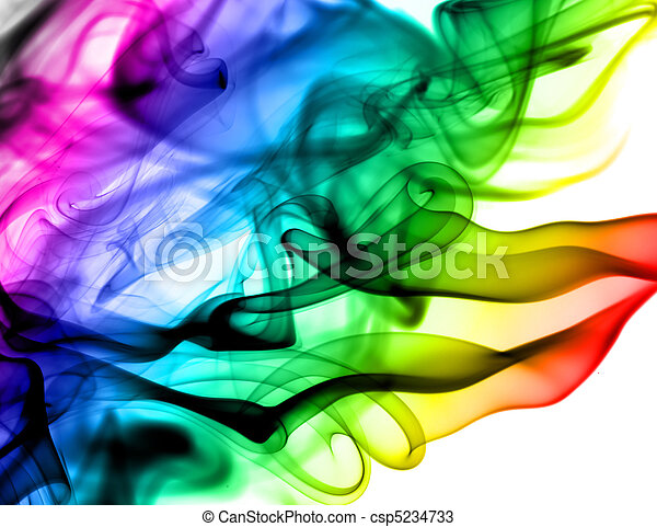 vapeur, résumé, blanc, coloré, Motifs - csp5234733