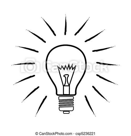 sketchy bulb - csp5236221