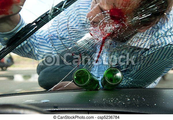 Stock Photo of Drinking and Driving - Wounded pedestrian with his ...
