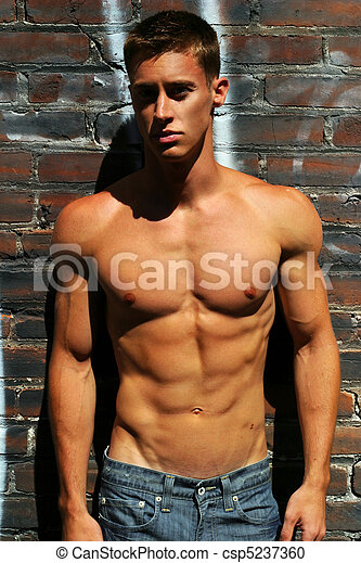 Stock Photography of Fitness model - Edgy fashion portrait