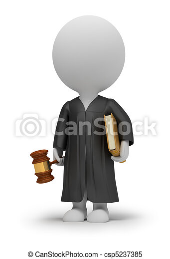 3d small people - judge - csp5237385