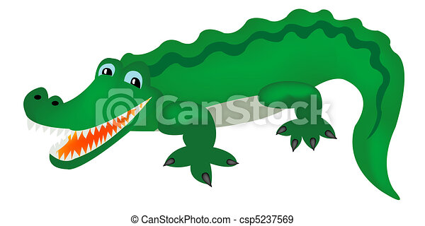 Green crocodile - csp5237569