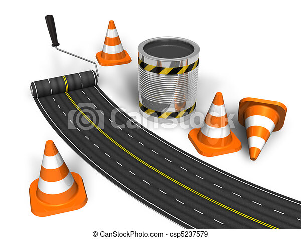 Road construction concept - csp5237579
