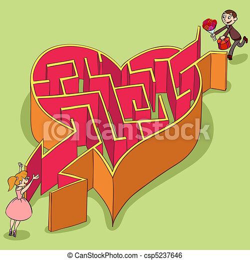 Labyrinth of Valentine's Day - csp5237646