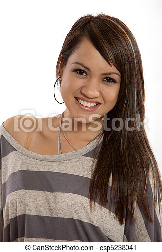 Modern young adult filipino woman - csp5238041