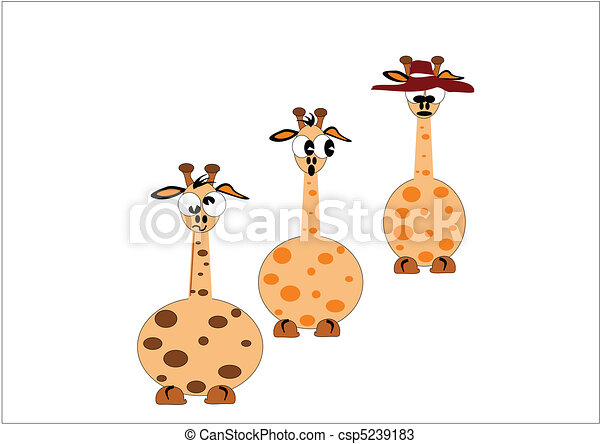 Vettori di giraffa cartoni animati giraffe in cartone - Cartone animato giraffe immagini ...