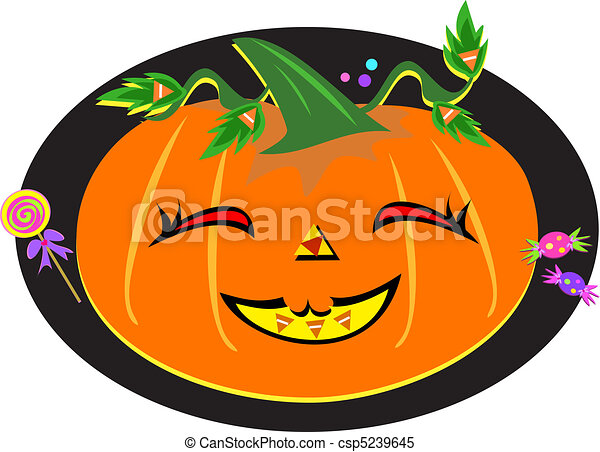 Cute Halloween Pumpkin - csp5239645