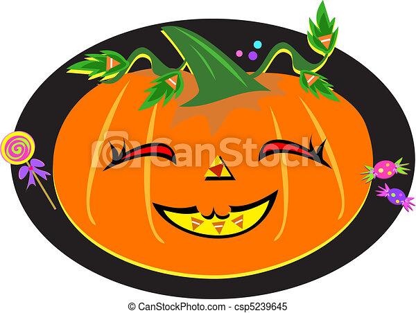 Cute Halloween Pumpkin - csp5239645