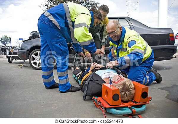 EMS team at work - csp5241473
