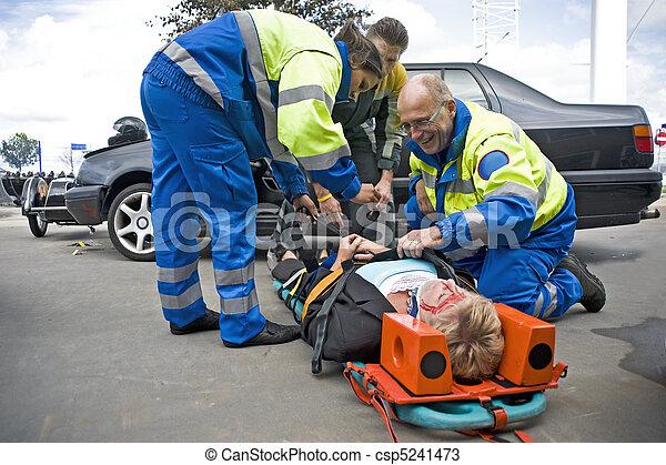 EMS team at work - csp5241473