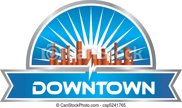 Downtown graphic - csp5241765