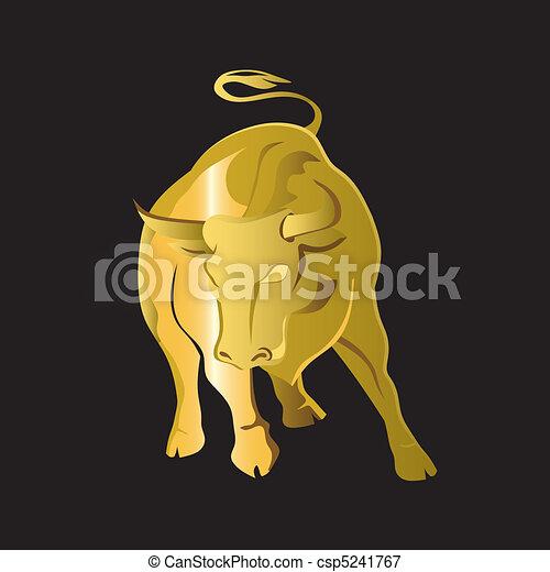 Gold bull - csp5241767