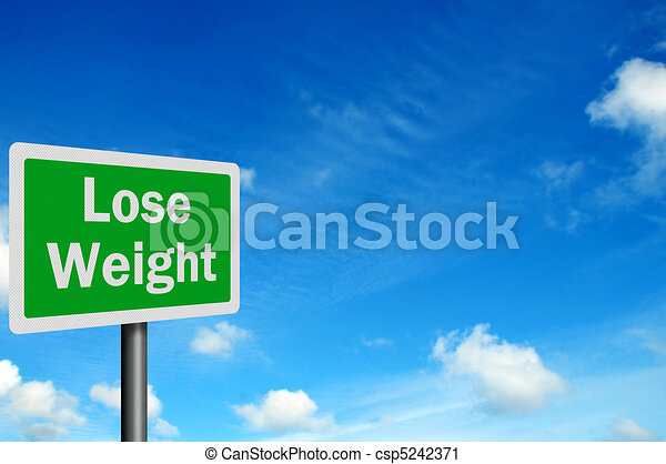 Photo realistic 'lose weight' sign, with space for your text - csp5242371