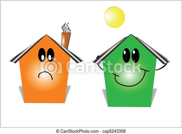 money savings energy house - csp5243358