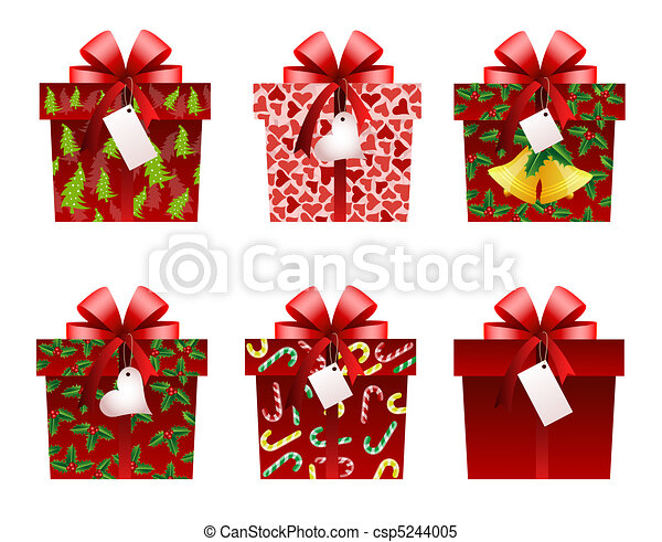 Christmas gift icons - csp5244005
