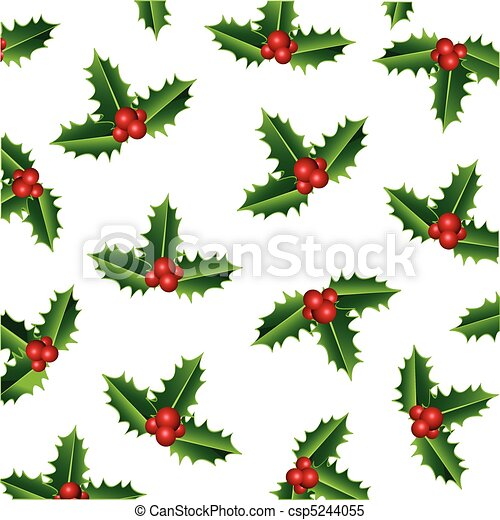 christmas holly - csp5244055