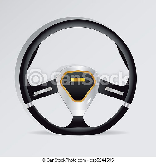 Steering wheel - vector illustration - csp5244595