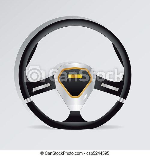 Steering wheel - vector illustration - csp5244595