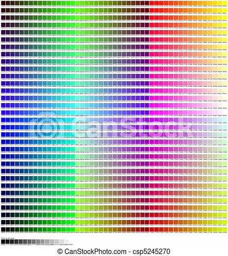 stock illustration von farbe code fluch tabelle tabelle von farben mit csp5245270. Black Bedroom Furniture Sets. Home Design Ideas