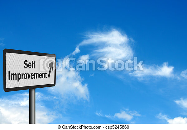 Photo realistic 'self improvement' sign - csp5245860