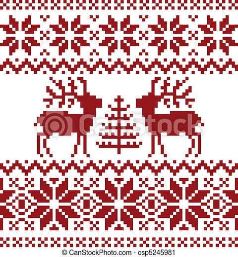 vektor clip art von weihnachten norwegisch muster. Black Bedroom Furniture Sets. Home Design Ideas