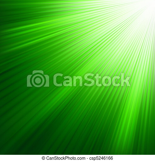 Green luminous rays. EPS 8 - csp5246166