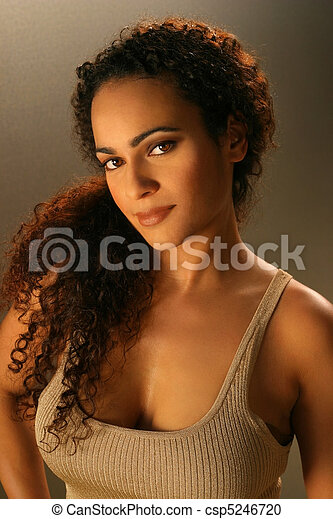 Beautiful young female ethnic mode - csp5246720