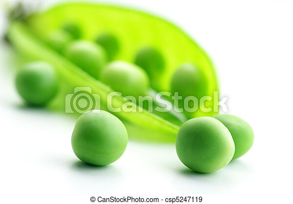 Pea pod and peas - csp5247119