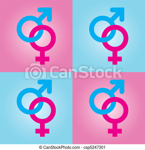 background with male and female symbols - csp5247301