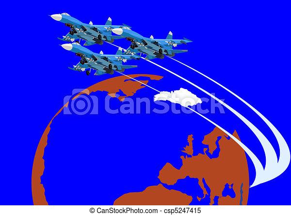 Combat fighter flight - csp5247415