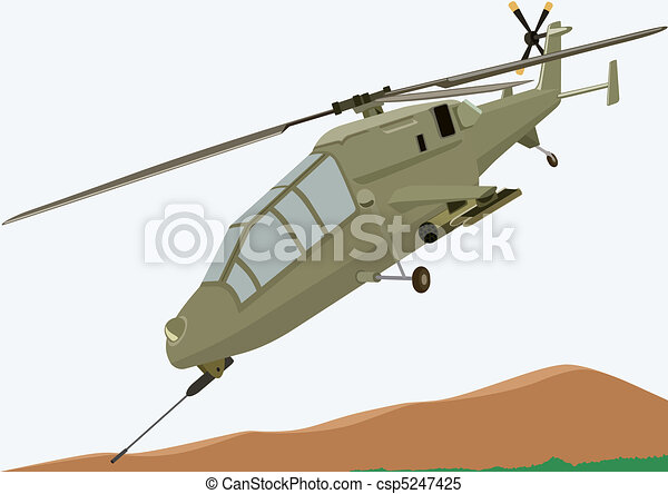 Combat helicopter - csp5247425