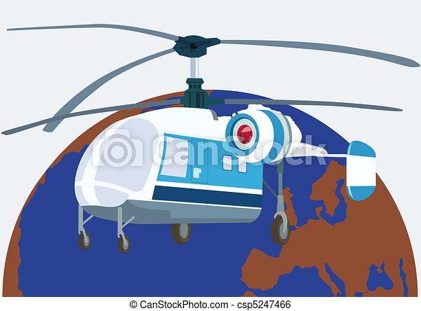 Helicopter aviation - csp5247466