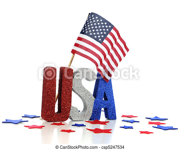 USA Patriotism Display - csp5247534
