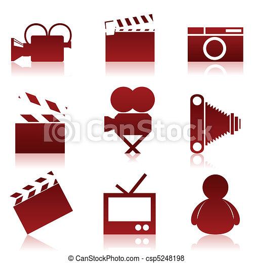 Cinema icons2 - csp5248198