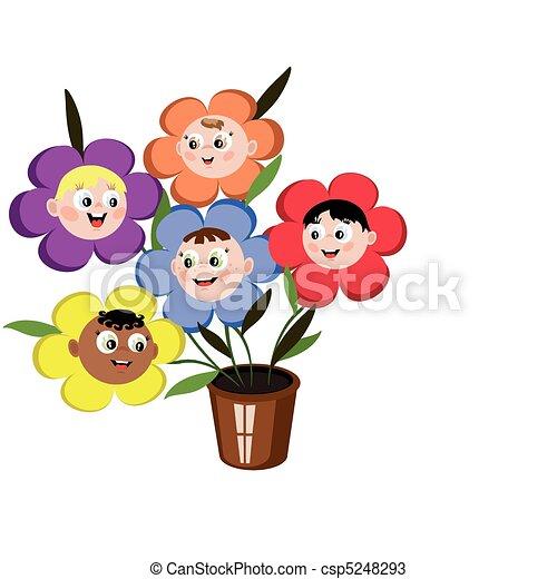 Children flowers - csp5248293