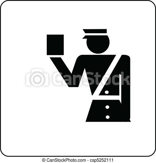 officer custom control sign - csp5252111