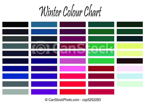 Stock Illustration - Winter color chart - stock illustration, royalty ...
