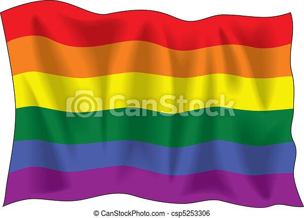 Gay pride flag - csp5253306