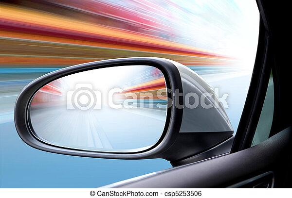 speed car on road - csp5253506
