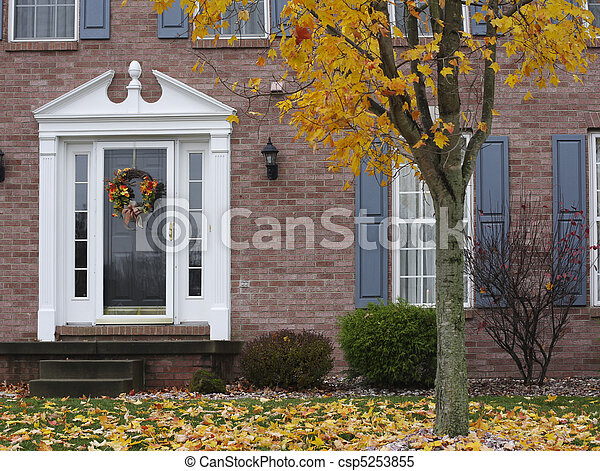 Inviting Autumn Home - csp5253855