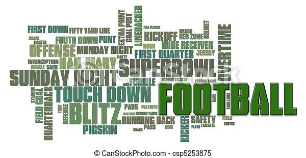 Football Word Cloud - csp5253875