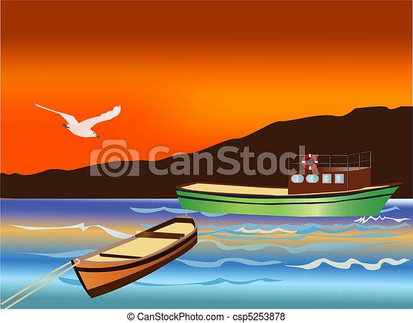 Vector Fishing Boats - csp5253878