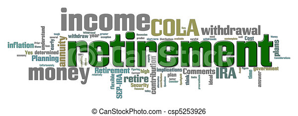 Retirement Word Cloud - csp5253926
