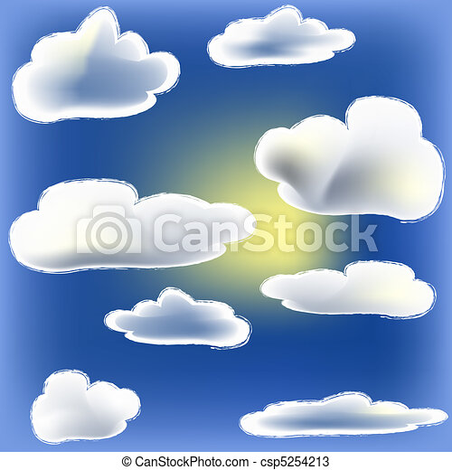 Sun And Cloud - csp5254213