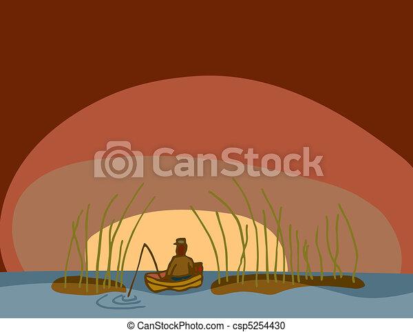 Early Morning Fishing - csp5254430