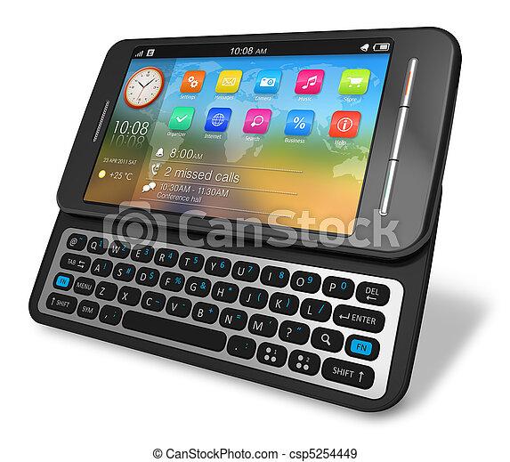 Side slider touchscreen smartphone - csp5254449