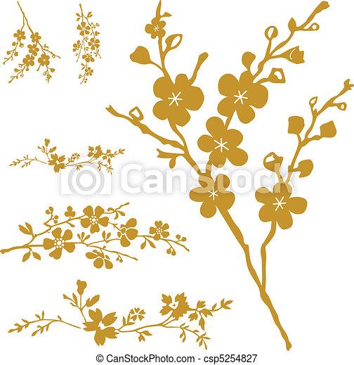 Vector Blossom Set - csp5254827