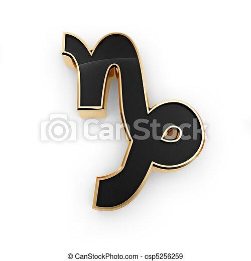 Capricórnio, signos, Símbolo, ícone - csp5256259